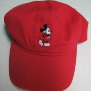 Mickey Mouse Red Strap-Back Hat